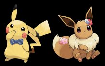 pokemon_lets_go_pikachu_and_lets_go_eevee_customization_artwork_with_bow_and_flowers
