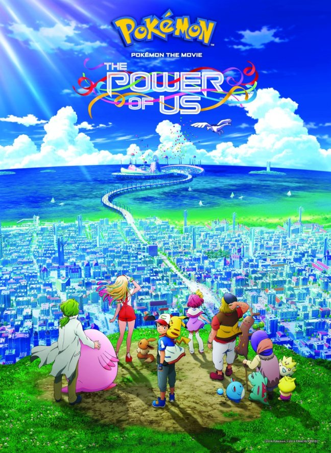 first official english dub poster artwork and logo for pokémon the