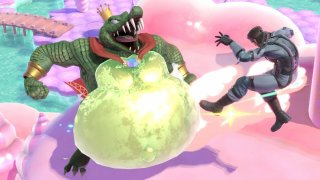 super_smash_bros_ultimate_screenshot_of_king_k_rool_attacking_snake