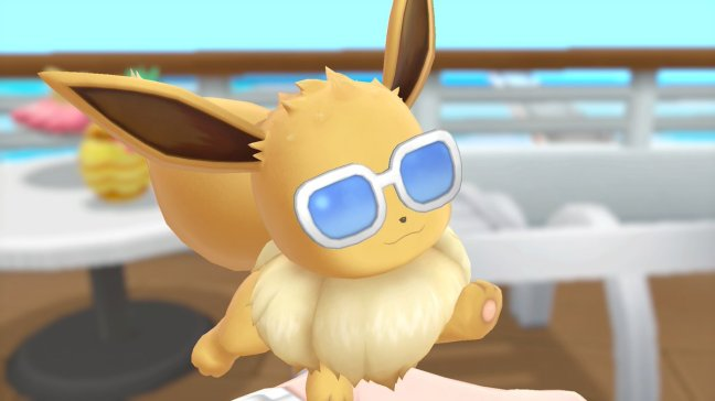 official customization screenshot of eevee with cool glasses in