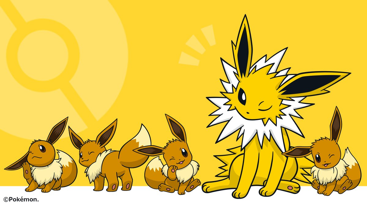 Official Pokemon Wallpaper Features Adorable Winking Eevee And
