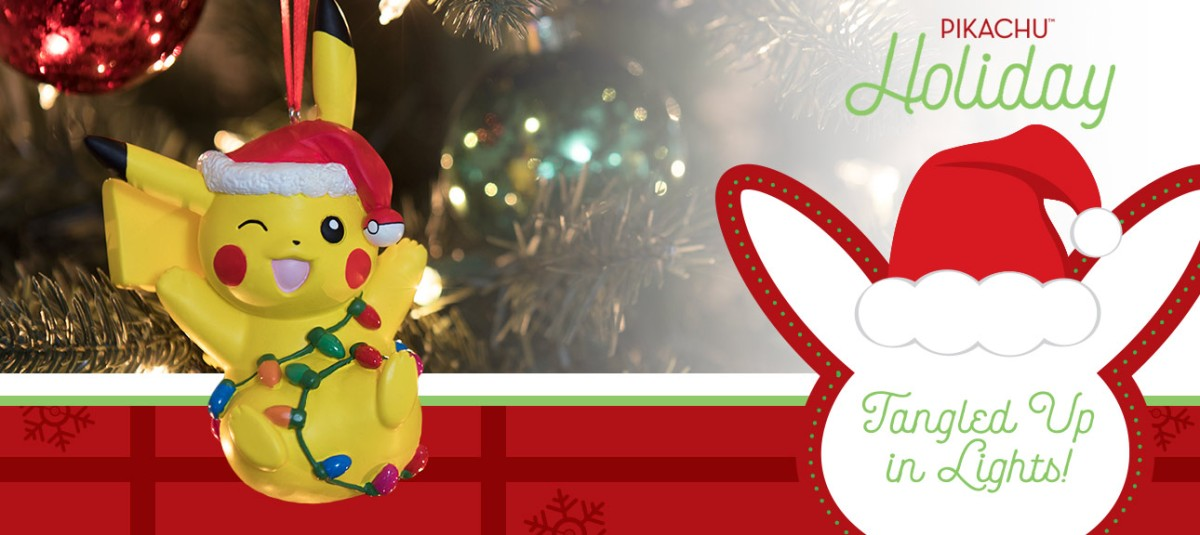 Pikachu Christmas Ornament.New Pikachu Holiday Collection Now Available At The Pokemon