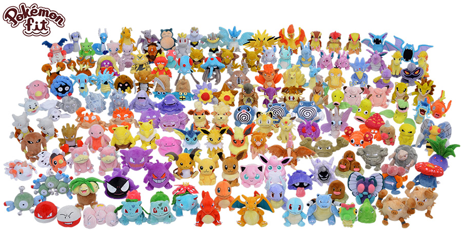 Pokémoff (#BuggerOffNationalDex) Pokemon_fit_plushies_of_all_original_151_pokemon