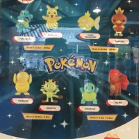 New Pokémon McDonald's Happy Meal toys feature Totodile, Pikachu, Shiny Magikarp, Torchic, Psyduck, Meowth, Squirtle and Vulpix for Singapore and Malaysia
