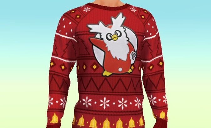 Pokemon Christmas Sweater.Delibird Christmas Sweater Earmuffs Gloves And Boots Now