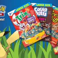 General Mills cereal boxes now include Pokémon TCG cards and special foil cards with Kanto Pokémon featuring Pikachu, Eevee, Charmander, Cubone and Bulbasaur