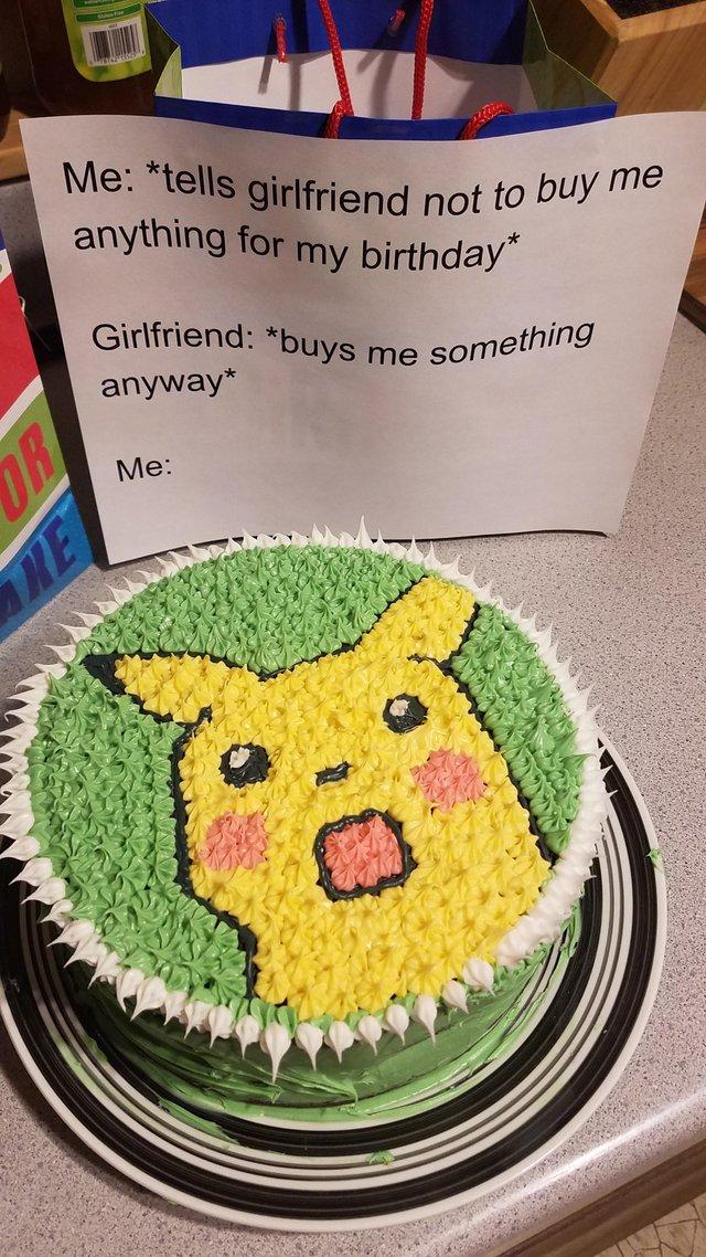 Enjoyable Surprised Pikachu Meme Gets Turned Into Birthday Cake Pokemon Blog Funny Birthday Cards Online Fluifree Goldxyz