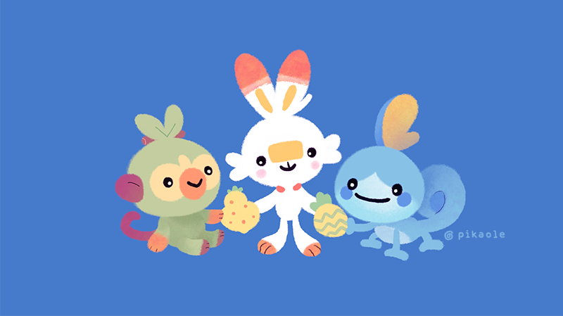 Fanart Already Created For New Starter Pokémon Grookey Scorbunny