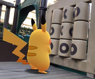 pokemon_go_go_snapshot_feature_taking_picture_of_pikachu