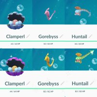 Shiny Clamperl, Shiny Huntail and Shiny Gorebyss can now be found and caught in Pokémon GO for the first time