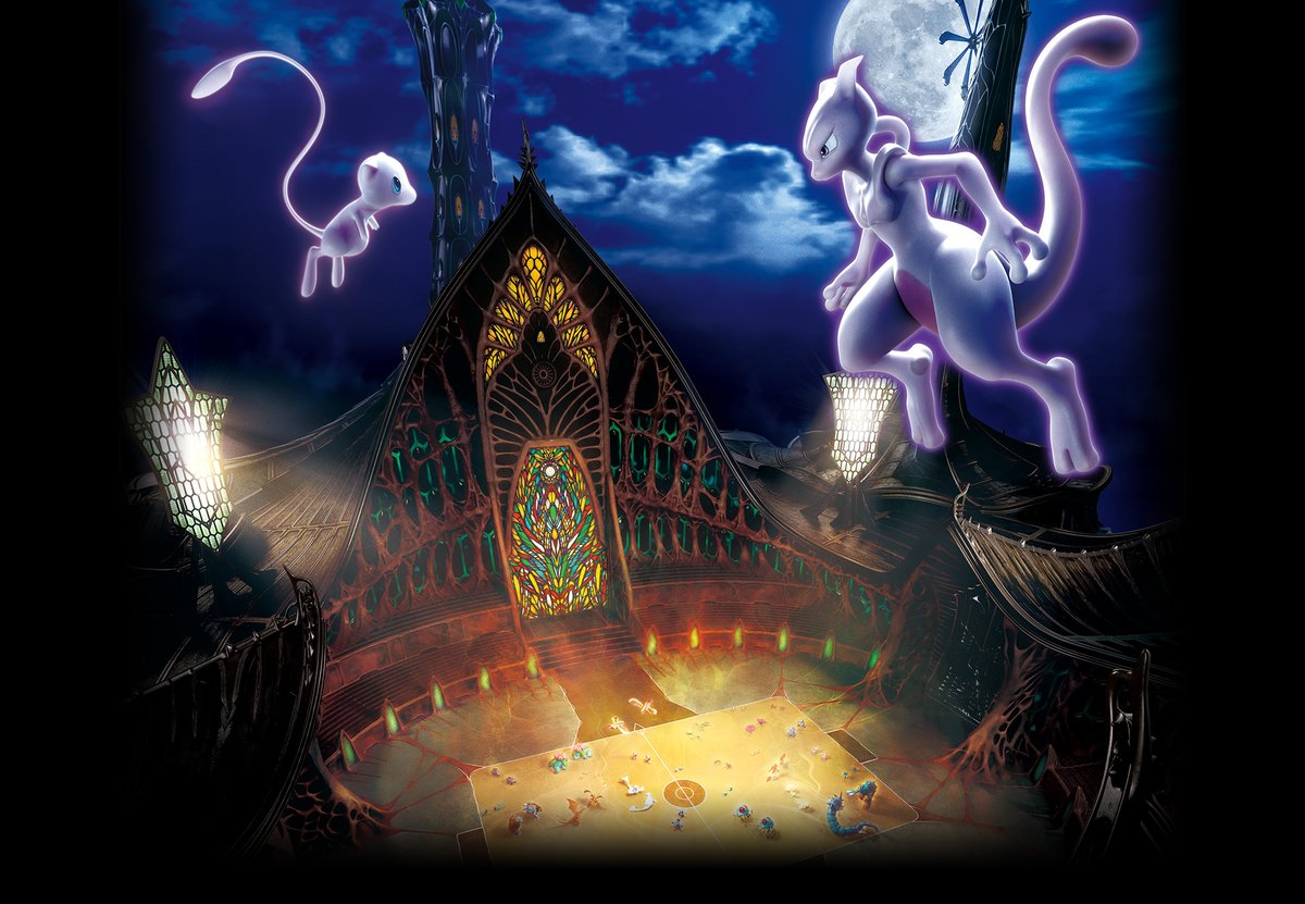 First Official Artwork For Pokemon The Movie Mewtwo Strikes Back