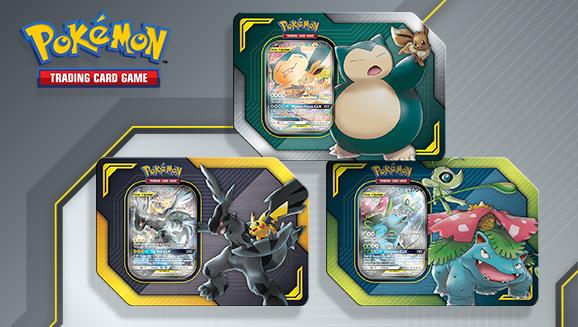 New Pokémon Tcg Tag Team Tins Feature Pikachu Zekrom Gx Eevee