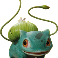 Official render of realistic Bulbasaur as it appears in POKÉMON Detective Pikachu