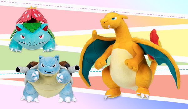 First Partner Pokemon Plush Collection Features Fully Evolved