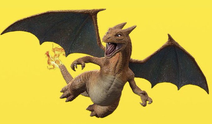 Official Render Of Realistic Charizard As It Appears In Pokemon