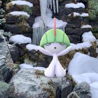 Niantic shares GO Snapshot photo of Ralts in the Winter Forest habitat at Pokémon GO Fest 2019 in Chicago, Illinois