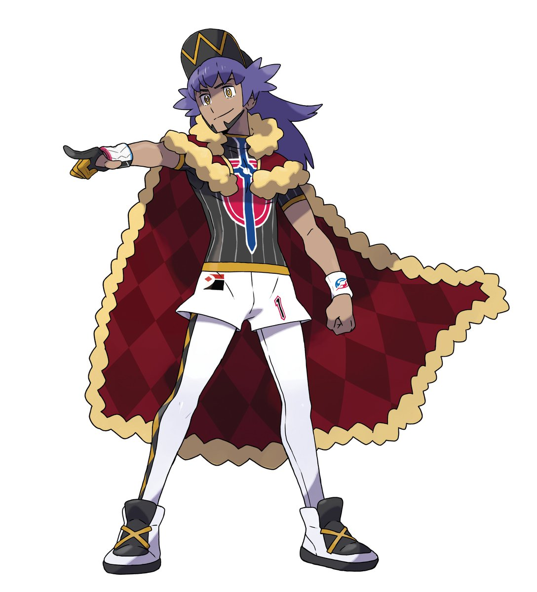 Official Artwork Of The Galar Region Champion Leon In Pokemon Sword
