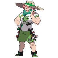 Official artwork of Galar's Grass-type Gym Leader Milo in Pokémon Sword and Shield