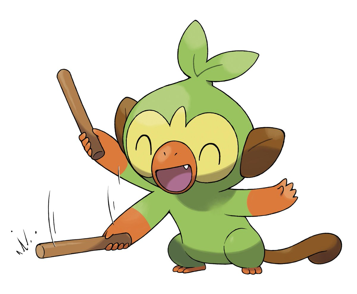 Secondary Artwork Unveiled For Grookey In Pokemon Sword And Shield