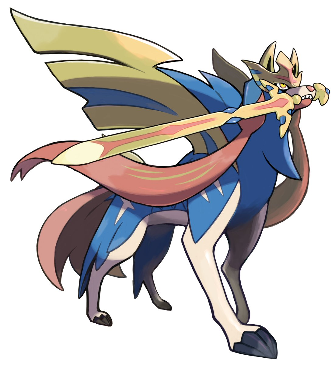 Official Artwork Of The New Legendary Pokemon Zacian In Pokemon