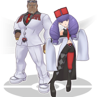 Meet Sawyer & Rachel, staff members of Prince Lear in Pokémon Masters
