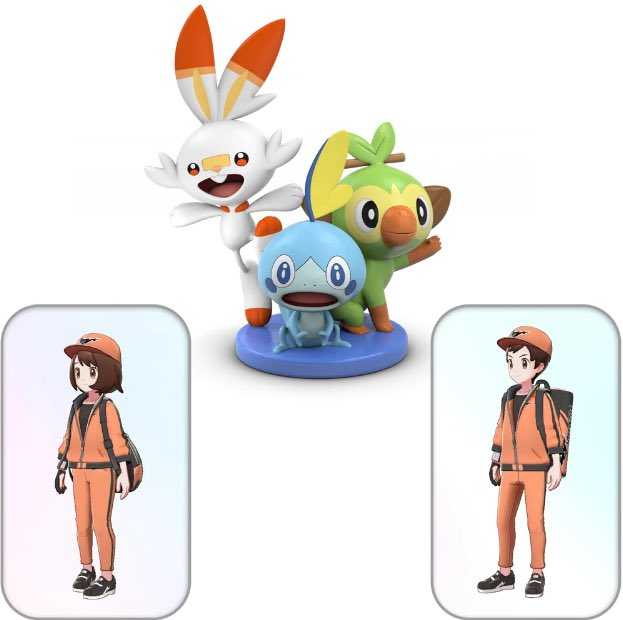 Pokemon Sword And Shield Dual Pack Pre Order Comes With Limited Edition Figurine Of Grookey Sobble And Scorbunny At Game In The Uk Pokemon Blog This figure was never for sale in any pokemon center, toy store if you waited until the game went on sale, you did not receive the figure. shield dual pack pre order comes