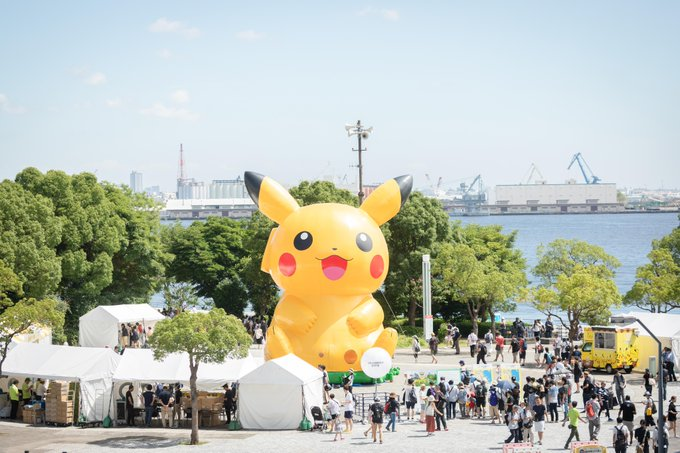 Enormous Pikachu balloon can be found at Pokémon GO Fest 2019 in