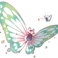 Official artwork for Gigantamax Butterfree in Pokémon Sword and Shield