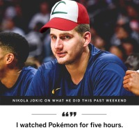 Denver Nuggets NBA player Nikola Jokić watched Pokémon for five hours this past weekend