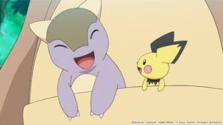 new_pokemon_anime_pocket_monsters_baby_Kangaskhan_and_pichu_in_Kangaskhans_pouch