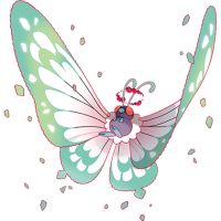 Alternate artwork for Gigantamax Butterfree in Pokémon Sword and Shield