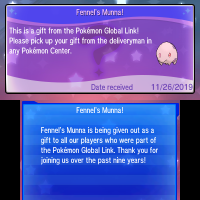 Fennel's Munna now being distributed via Pokémon Global Link for Pokémon Ultra Sun, Ultra Moon, Sun and Moon