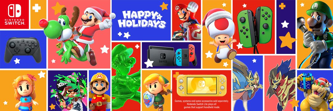 Nintendo Holiday 2019 Banner Features Zacian And Zamazenta From Pokemon Sword And Shield Pokemon Blog