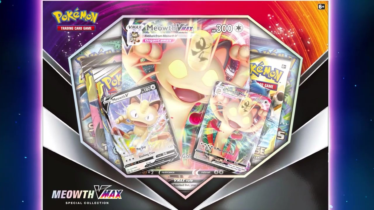 January Games With Gold 2020.Pokemon Tcg Sword Shield Meowth Vmax Special Collection