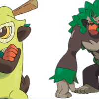 Official artwork and details revealed for Thwackey and Rillaboom in Pokémon Sword and Shield