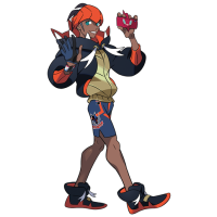 Official artwork for Hammerlocke Gym Leader Raihan in Pokémon Sword and Shield