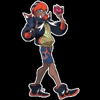 Official artwork for Hammerlocke Gym Leader Raihan in Pokémon Sword and Shield