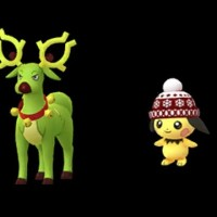 Pikachu, Raichu and Pichu wearing beanies, and Stantler wearing bells appear in Pokémon GO for the first time on December 24
