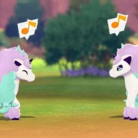 Pokémon GIF: Tag a friend who needs to see two happy Galarian Ponyta