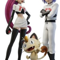 Official artwork for Jessie, James and Meowth in Pokémon: Mewtwo Strikes Back—Evolution