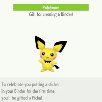 First Mystery Gift for Pokémon HOME now live, get Pichu by placing a sticker in your binder