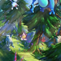 New loading screen for Pokémon GO displays Seismitoad, Togetic, Venipede, Scolipede, Joltik, Sudowoodo, Ralts and Cherrim surrounded by trees