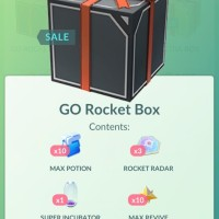 New GO Rocket Box with 10 Max Potions, 4 Rocket Radars, 1 Super Incubators and 10 Max Revives now available in Pokémon GO