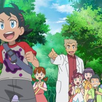 English dub names of Go and Professor Sakuragi are Goh and Professor Cerise in Pokémon Journeys: The Series