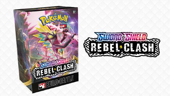 SWSH Rebel Clash SEALED Build /& Battle Box Case 10 Decks//Promos w// 40 Packs