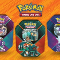 Each Pokémon TCG: Legends of Galar Tin comes with 4 booster packs and Polteageist V, Copperajah V or Toxtricity V