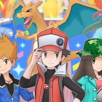 Triple Feature Poké Fair Scout featuring 5★ Sygna Suit Red, Blue and Leaf now available in Pokémon Masters EX for 72 hours only