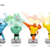 Muscular humanoid Pokémon figures revealed for Bulbasaur, Charmander, Squirtle and Pikachu
