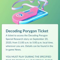 Decoding Porygon ticket holders can now access the September Pokémon GO Community Day–exclusive Special Research story