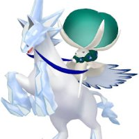 Ice Rider Calyrex is a Psychic/Ice-type Pokémon and a fusion with Glastrier